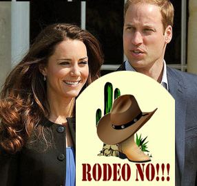 Wills and Kate don't go on a rodeo date
